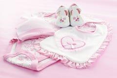 младенец одевает пинк младенца девушки Стоковые Фото