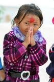 младенец одевает protrait соотечественника kathmandu Стоковая Фотография RF