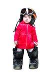 младенец одевает snowboarder изумлённых взглядов Стоковое Фото