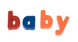 младенец преграждает слово Стоковое Изображение