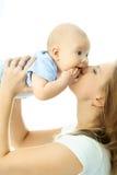 младенец счастливый ее мать Стоковые Фотографии RF