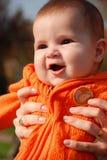 младенец счастливый немногая Стоковые Изображения RF