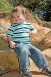 младенец счастливый Стоковое Изображение