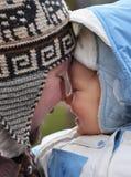 Младенец с папаом Стоковые Фото