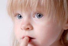 младенец унылый Стоковое фото RF