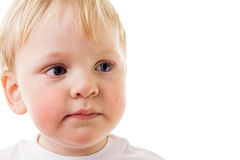 младенец унылый Стоковые Фотографии RF