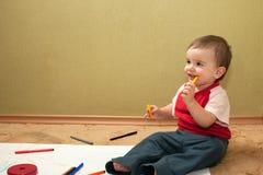 младенец художника стоковые изображения