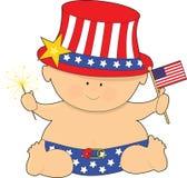младенец четвертое -го июль иллюстрация вектора