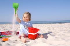 младенец beach2 Стоковые Фото