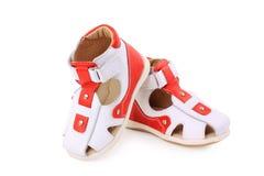 младенец boots красная зима Стоковые Изображения