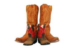 младенец boots мама пастушкы Стоковые Фото
