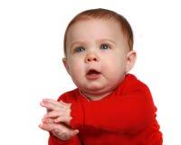 младенец clapping вручает ее немного Стоковая Фотография RF