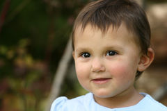 младенец eyes малыш девушки стоковая фотография rf