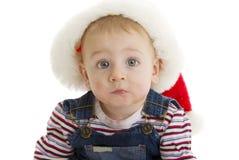 младенец santa серьезный Стоковая Фотография