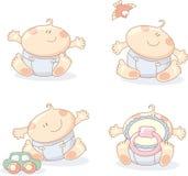 младенцы жизнерадостные Стоковое фото RF
