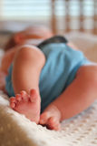 Младенческие ноги младенца Стоковое фото RF