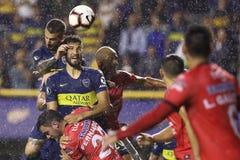 Младшие Boca играют под дождем на libertadores 2019 стоковые фотографии rf