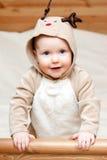 младенец оленей costume Стоковые Фото