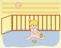 младенец одевая девушку Стоковая Фотография