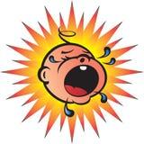 младенец bawling Стоковое Изображение