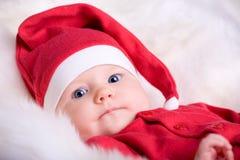 младенец santa Стоковая Фотография