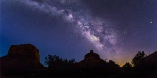 Млечный путь Аризоны - около Sedona, Аризоны Стоковое Изображение RF