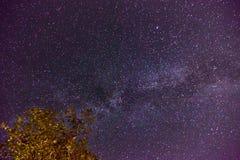 Млечный путь Галактика на ночном небе стоковые фотографии rf