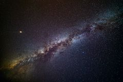 Млечный путь и Марс стоковая фотография rf