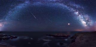 Млечный путь и Perseids стоковое фото rf