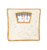 Мнимые веся масштабы сделанные куска хлеба Стоковая Фотография RF