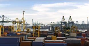 многодельный морской порт стоковое фото rf