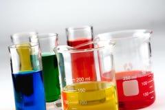 многократная цепь beakers стеклянная Стоковая Фотография