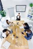 Многокультурные бизнесмены на встрече Стоковое Изображение RF