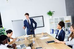 Многокультурные бизнесмены на встрече Стоковое фото RF