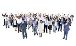 Многонациональная группа в составе бизнесмены торжества Стоковые Фотографии RF