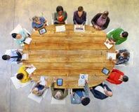 Многонациональная концепция планирования групповой встречи группы людей Стоковая Фотография