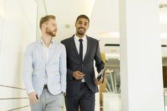 Многонациональные бизнесмены в офисе Стоковые Фотографии RF
