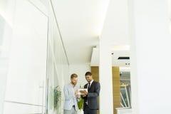 Многонациональные бизнесмены в офисе Стоковые Изображения RF