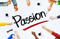 Многонациональные люди обсуждая о страсти Стоковая Фотография RF