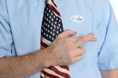 Многообещающий избиратель патриота Стоковое Фото