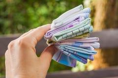 Многоразовые носовые платки хлопка 100 процентов Стоковое Изображение RF