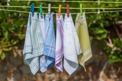 Многоразовые носовые платки хлопка 100 процентов Стоковое Изображение