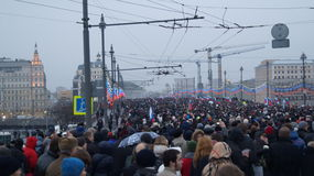Многотысячный митинг в Москве 1-ое марта 2015 Стоковая Фотография