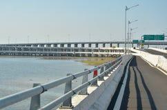 Многоуровневые шоссе над морем Стоковое фото RF