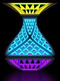 Многофункциональная экономическая лампа ночи Модульная система преобразования иллюстрация 3d Стоковые Изображения