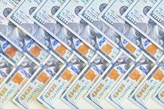 Много американских 100 долларовых банкнот Стоковые Изображения