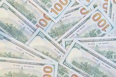 Много американских 100 долларовых банкнот Стоковое Изображение RF