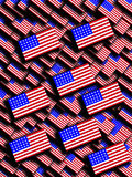 Много американских флагов Стоковая Фотография