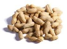 Много арахисов на белизне Стоковые Изображения RF
