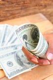 Много банкнот долларов Стоковая Фотография RF